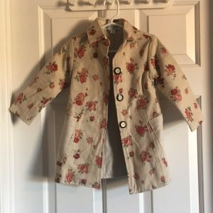 Right Bank Babies Girls floral roses Jacket sz 2T
